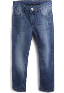 Calça Jeans Hering Kids Infantil Lisa Azul-Marinho
