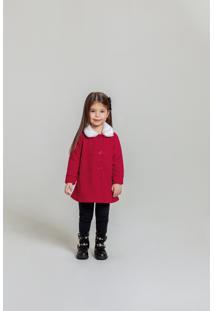 Casaco Time Kids Inverno Tweed Vermelho