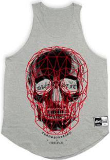 Regata Tradicional Diet 3D Skull Masculina - Masculino