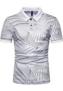 Camisa Polo Join Venture Estampada - Branca G
