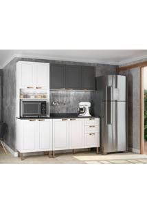 Cozinha Compacta Nevada Viii 9 Pt 3 Gv Branca E Grafite