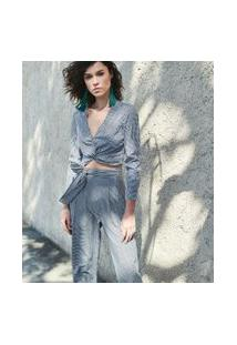 Camisa Xadrez Vichy Com Nó | Blue Steel | Cinza | G