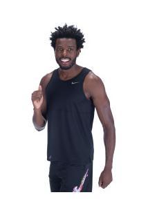 Camiseta Regata Nike Breathe Run Tank - Masculina - Preto