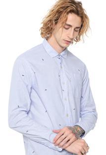 Camisa John John Reta Micro Cars Azul
