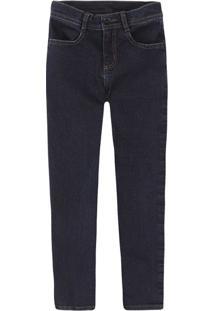 Calça Jeans Infantil Menino Com Cintura Ajustável Puc       2178f9147f1