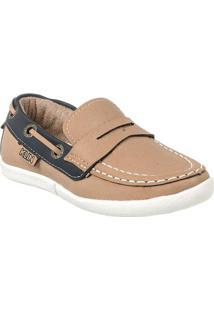 Sapato Infantil Klin Flyer Masculino - Masculino-Marrom Claro