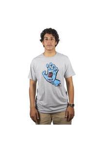 Camiseta Santa Cruz Screaming Hand Cinza