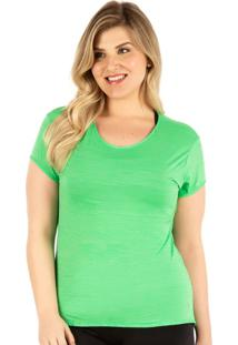 Camiseta Plus Verde Baby Look | 553.822P