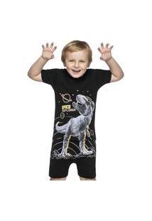 Pijama Infantil Dino Preto Elian 1 Preto