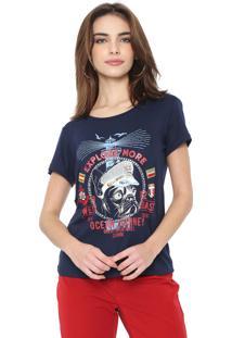 Camiseta Carmim Ocean Azul-Marinho