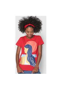 Camiseta Lez A Lez Artística Vermelha