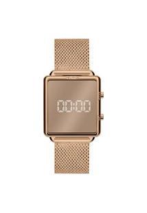Relógio Euro Feminino Rosê Digital Eujhs31Baj4T