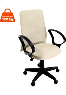 Cadeira De Escritório Diretor Suede Bege