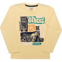 f623d82618 Camiseta Manga Longa Pimentinha Kids Super Cool Amarelo