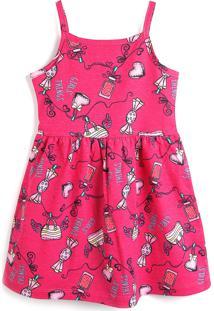 Vestido Brandili Estampado Rosa