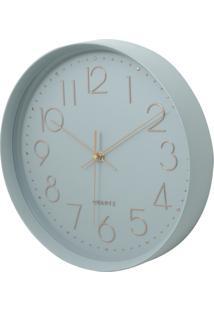 Relógio Parede Plástico Thick Edge Cinza 30X5X30Cm