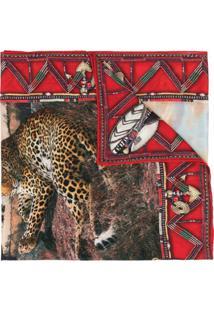 Ralph Lauren Collection Cachecol De Cashmere Com Bordado - Vermelho