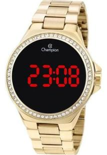 Relógio Champion Digital Led Ch40151H Feminino - Feminino-Dourado