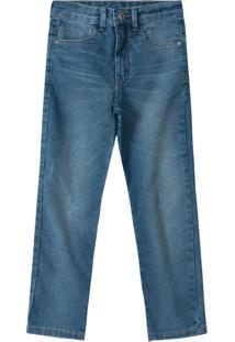 Calça Azul Slim Jeans Com Elastano Menino