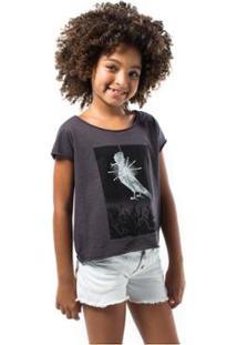 Camiseta Infantil Rock Festa Reserva Mini Feminina - Feminino