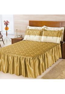 Colcha Dourados Enxovais Mel Ouro Padrã£O 05 Peã§As, - Dourado - Dafiti