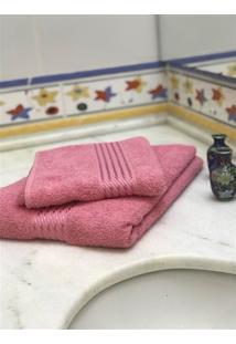 Jogo 2 Peças Toalhas De Banho E Rosto Prisma Af1290 - Rosa