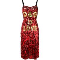 0e9d691dcfac Dolce & Gabbana Vestido De Paetê 'D&G Is Love' - Vermelho