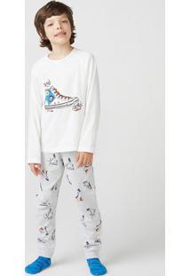 Pijama Infantil Menino Manga Longa Com Estampa