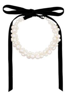 Simone Rocha Pearl Baroque Necklace - Branco