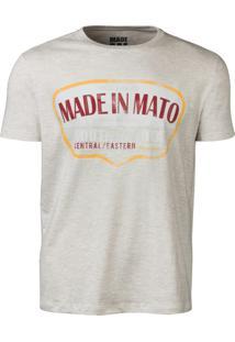 a1946f57491cf Camiseta Made In Mato South Dakota Mescla Claro