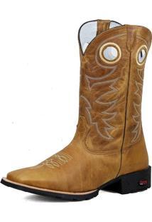 Bota Texana Ramon Boots Bordada Country Amarelo