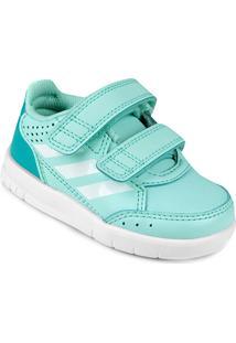 Tênis Infantil Adidas Altasport Cf I Masculino - Unissex-Verde Claro+Branco
