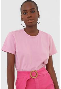Camiseta Morena Rosa Carimbo Rosa