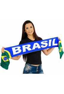 Cachecol Brasil Dupla Face - Unissex