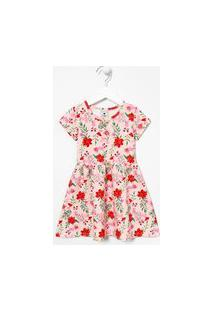Vestido Infantil Estampa Floral - Tam 1 A 5 Anos | Póim (1 A 5 Anos) | Rosa | 05