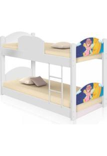 Beliche Infantil Fadinha Encantada Com 2 Colchãµes Casah - Branco/Multicolorido - Menina - Dafiti