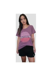 Camisetão Manga Curta Outstanding Grape Roxo Feminino