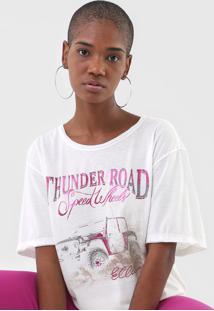 Camiseta Ellus Thunder Road Off-White