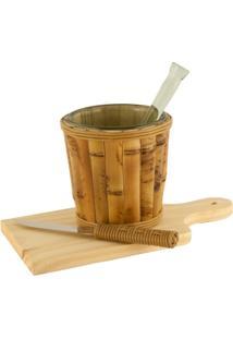 Kit Caipirinha Em Bambu