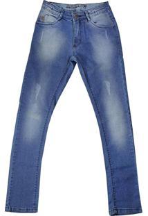 Calça Jeans Infantil Oznes Menino Azul - 12