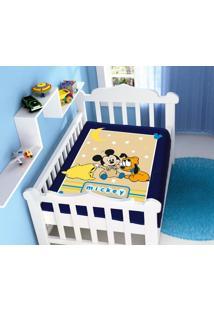 Cobertor Disney Mickey Soninho Azul Marinho Jolitex