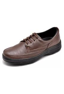 Sapato Social Masculino Top Franca Shoes Ortopédico Conforto Cafe