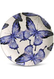 Prato Sobremesa Coup Papillon Cerâmica 6 Peças Porto Brasil