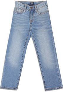 Calça Jeans Infantil Gap Lavagem Clara Masculina - Masculino-Azul