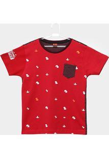 Camiseta Infantil Gangster Manga Curta Masculina - Masculino