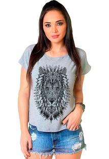 Camiseta Shop225 Leão Tattoo Mescla