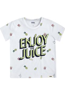 Camiseta Infantil Menino Estampada