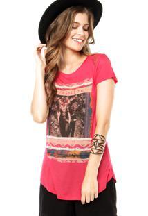 Camiseta Facinelli Strass Rosa