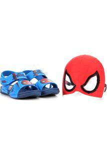 Sandália Infantil Grendene Kids Marvel Hero Glasses Masculina - Masculino