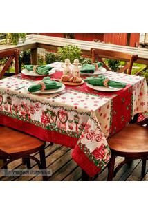 Toalha De Mesa Estampada Natal- Vermelha & Branca- 2Lepper